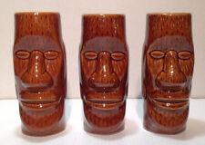 3 x Vintage Ceramic Polynesian Hawaiian Totem TIKI Mugs Cups