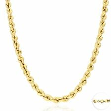10K Yellow Gold 6.5mm Thick Rope Link Chain Necklace 26""