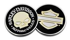 Harley-Davidson Mirror Skull B&S Challenge Coin, 1.75 in Coin, Black 8008505