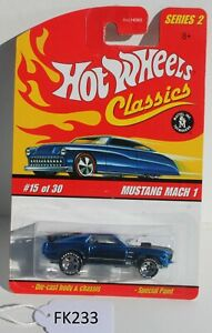 Hot wheels Classics Series 2 Mustang Mach 1 Blue #15 FNQHotwheels FK233