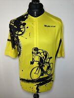 Weimo Star Le Tour De France Yellow Cycling Jersey Shirt Short Sleeve XXL BNWT