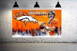 Peyton Manning Broncos Country CANVAS Print Huge 30 x 20 NFL Denver Broncos