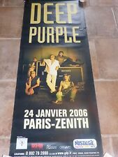 DEEP PURPLE - ZENITH 2006 !!!!!!!!Affiche promo / French promo poster !!!!!!!!!