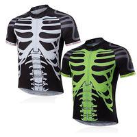 Cycling Jersey Bicicleta Jacket Bicycle Bike Skeleton Outdoor Sport Short Sleeve