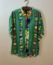Vintage Jams World Hawaii Beach Surfboard Hawaiian Multi Color Shirt Size XL