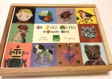 "Rare! NATHALIE LETE Vilac ""Le Joli Memo"" 40 Piece Memory Puzzle! FREE SHIPPING!"