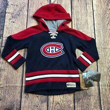 NHL Legacy Kids Medium 5/6 Montreal Canadiens Sweatshirt Pullover Hoodie New