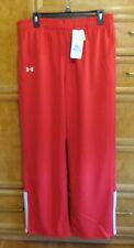 women's Under Armour warmup sweatpants Red white sz L long brand new NWT $69.99