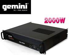 "Gemini XGA-2000 Professional Lightweight 2000W PA Power Amplifier 19"" Rack Amp"