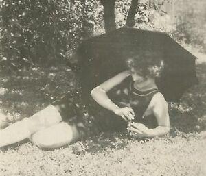 ANTIQUE VINTAGE FLAPPER AMERICAN BEAUTY IMPRESSIONIST SWIMSUIT ARTISTIC PHOTO
