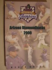 2000 Arizona Diamondbacks Media Guide - BIG UNIT GONZO FINLEY
