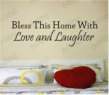 bless this home love stickers wall Decal Removable Art Vinyl Decor Home Nursery