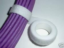 Correa de Velcro Blanco Cable Tie Hook & Loop de 20 mm de ancho 1 M longitudes * original Velcro *