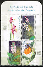Canada Flora Flowers Archids stamps block 1987
