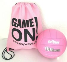 WILSON SOFT PLAY VOLLEYBALL INDOOR OUTDOOR SPORT BALL & PINK BACKPACK BAG SET