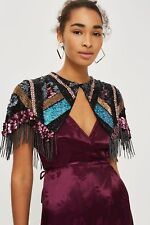 TOPSHOP VINTAGE INSPIRED BEADED TASSEL CAPELET SHAWL STUDIO 54 GLAMOUR BNWT  £95