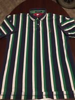 Vintage Tommy Hilfiger Colorblock Striped S/S Mens Polo Shirt Extra Large XL