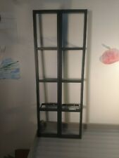 Lot Of 2 Vintage Ikea Lerberg Wall Mounted Media Shelving Prebuilt Grey Metal