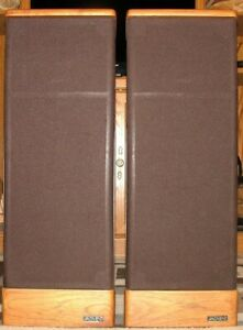 VINTAGE ADVENT PRODIGY, 2-WAY TOWER SPEAKERS, NEW FOAM WOOFER SURROUNDS - NICE!