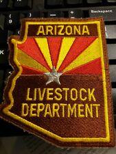 Rare  Arizona Livestock department  police  patch
