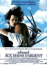 Affiche 40x60cm EDWARD AUX MAINS D'ARGENT 1991 Johnny Depp, Winona Ryder NEUVE