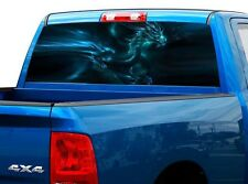 P499 Dragon Rear Window Tint Graphic Decal Wrap Back Truck Tailgate