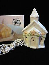Lighted 1992 Precious Moments Christmas Chapel Nightlight ~ Mint in Box