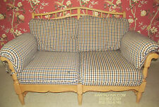 Ethan Allen Wood Framed Upholstered Love Seat 16 7462 Removable Cushions