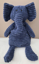 Jellycat Medium Large Cordy Roy Elephant Comforter Soft Baby Toy Ribbed Blue