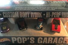Hot Wheels - POPS GARAGE - 4 CAR SET - CIVIC - GTX - DUECE - HOOLIGAN 0- 2001