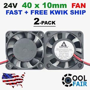24V 40mm Cooling Case Fan 4010 40x40x10mm DC RepRap 3D Printer 2-Pin 2 Pcs