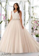 Plus Size Lace White/Ivory Bridal Gown Wedding Dress Custom 14+16+18+20+22+24+26