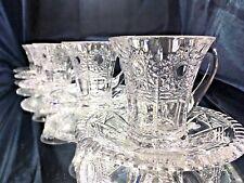 Crystal Glass Set of 6+6 CoffeeTea Cups+Saucers 3 oz/100ml Bohemia Royal Crystal