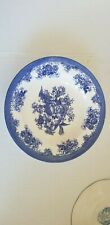 Egersund Norway Blue & White Floral Soup/Cereal Bowl with birds