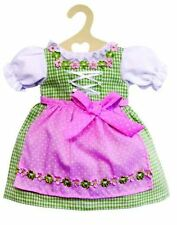 Puppenkleid Puppen Dirndl grün mit Schürze für 28 - 35 cm Puppen   Heless 1111