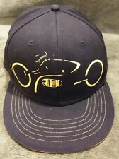 DISNEY TRON LEGACY Movie LightCycle Fitted Baseball Cap Hat Black Yellow Size XL