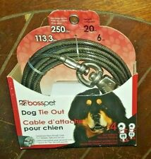 Dog Tie Out Cable For Dogs up to 250lbs ~20' Long~ Item #Q6820-000-99