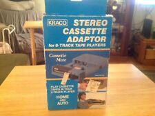 Vintage Kraco Stereo Cassette Adapter for 8-Track Tape Players Model KCA-7B NIB