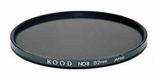 Kood ND8 High Quality Optical Glass Filter 82mm Made in Japan 3 Stop filter