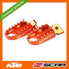 REPOSE CALE PIED KTM 50 65 150 250 350 450 SX SXF EXC EXC-F 98-15 ORANGE SCAR