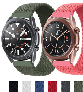 20mm/22mm Braided Solo Loop Strap for Samsung Galaxy watch 3/46mm/42mm/active