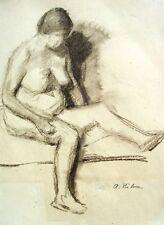 Arnold Hilmer 1908-1993 Hambourg/dessin féminin acte dans le profil/pour 1930
