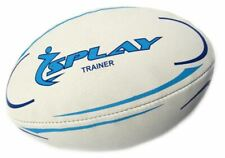 Splay Trainer Rugby Ball (blue)- Size 3 Training Rubber Pre Match Balls Coaching
