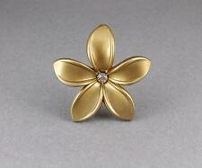 Gold plumeria hair clip hawaiian flower barrette alligator hair claw clamp