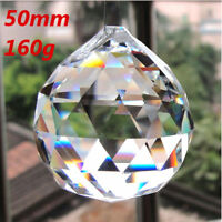 50mm Clear Crystal Feng Shui Lamp Ball Sphere Prism Rainbow Sun Catcher Decor