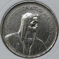 1968 Switzerland 5 FRANCE KM# 40a.1 Copper-Nickel coin [#031219]