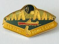 San Remo Bowling Club Badge Pin Rare Vintage (L9)