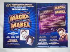 MACK & MABEL Michael Ball & Rebecca LaChance 2015 UK Theatre Tour Promo flyers