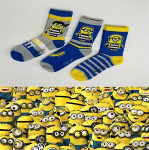 Minions Kindersocken Strümpfe Socken 3 Paar Despicable me 3 Minion   NEU & OVP