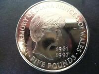 1999 £5 COIN (CROWN) PRINCESS DIANA MEMORIAL.1999 FIVE POUNDS COIN SHOWN SENT